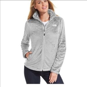 The North Face Gray Osito Front Zip Jacket